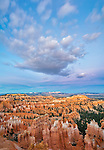 Bryce Canyon National Park, UT: Dusk light on the Bryce Canyon Ampitheater