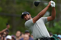 Tony Finau (USA) on the 15th tee during the final round at the PGA Championship 2019, Beth Page Black, New York, USA. 20/05/2019.<br /> Picture Fran Caffrey / Golffile.ie<br /> <br /> All photo usage must carry mandatory copyright credit (© Golffile | Fran Caffrey)