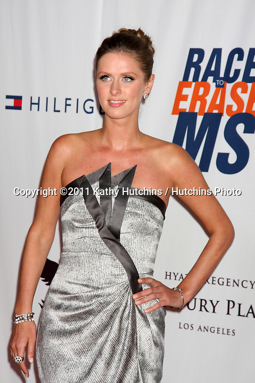 LOS ANGELES - APR 29:  Nicky Hilton arriving at the 18th Race to Erase MS Event at Century Plaza Hotel on April 29, 2011 in Century City, CA..