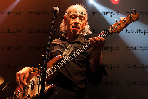 Wilko Johnson Band - former Blockheads bassist Norman Watt-Roy performing live  at KOKO in London UK - 10 Mar 2013.  Photo credit: Steve Johnston/Music Pics Ltd/IconicPix