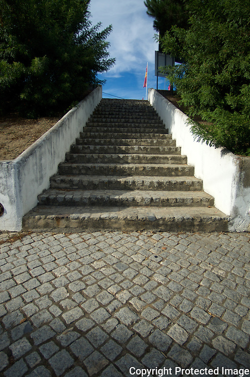 Steps leading to a small town in Portugal. Where do they go?