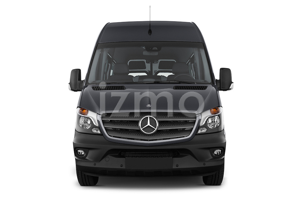 Car photography straight front view of a 2014 Mercedes Benz Sprinter 316CDi MWB 4 Door Combi 2WD Front View