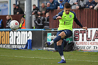 Scott Duxbury (Stockport County) during the Vanarama National League North match between Nuneaton Town and Stockport County at the Liberty Way Stadium, Nuneaton, England on 27 April 2019. Photo by James  Gill.