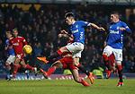 05.12.2018 Rangers v Aberdeen: Scott McKenna tackles Ryan Jack in the last minute