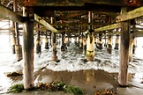 USA, California, San Diego, under the pier at Pacific Beach