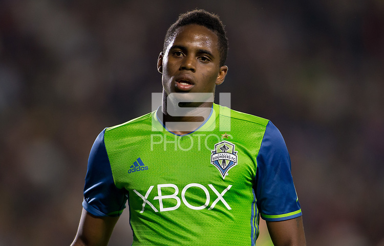 Carson, CA - Saturday July 29, 2017: Joevin Jones during a Major League Soccer (MLS) game between the Los Angeles Galaxy and the Seattle Sounders FC at StubHub Center.