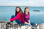 l-r Laura Scanlon and Abbie O'Connell from The Maharees at the Maharees Regatta on Sunday