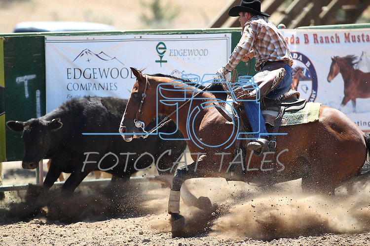 Todd Gansberg competes in the ranch horse class slack event at the Minden Ranch Rodeo on Saturday, July 23, 2011, in Gardnerville, Nev. .Photo by Cathleen Allison