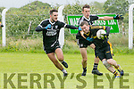 In Action Currow's John Buckley gets away from Ardfert's  Daichi Griffin and Eoghan Courtney at the Division 3, Ardfert v Currow, on Sunday in Ardfert
