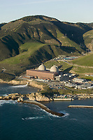 aerial photograph of the Diablo Canyon Nuclear Power Plant, Avila Beach, San Luis Obispo County, California