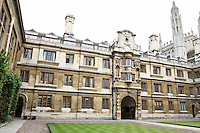 Clare College, Cambridge .Cambridge, U.K - A variety of scenes at the historic university city of Cambridge, England -  September 2nd 2012..Photo by Keith Mayhew