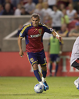Real Salt Lake forward Yura Movsisyan (14) dribbles up field. Salt Lake Real defeated Toronto FC, 3-0, at Rio Tinto Stadium on June 27, 2009.