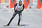 Dietmar Noeckler in action at the sprint qualification of the FIS Cross Country Ski World Cup  in Dobbiaco, Toblach, on January 14, 2017. Credit: Pierre Teyssot