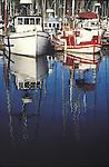 Fishing boats docked at Noyo Harbor, Fort Bragg California
