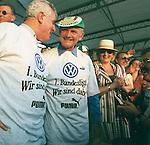 Ferdinand Piech -VW Boss<br /> <br /> VW Chef Ferdinand Piech mit VfL WOB. Fanm&uuml;tze -hier in der Pause (11.06.97)<br /> <br /> Foto &copy; nordphoto / Rust