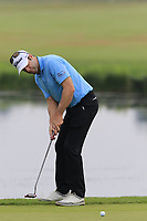 Bradley Dredge (WAL) putts on the 15th green during Saturday's Round 3 of the Porsche European Open 2018 held at Green Eagle Golf Courses, Hamburg Germany. 28th July 2018.<br /> Picture: Eoin Clarke | Golffile<br /> <br /> <br /> All photos usage must carry mandatory copyright credit (&copy; Golffile | Eoin Clarke)