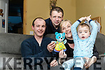 David and Louise Collins with their son Daniel with James Sheehy (on Left) who travelled to Dublin with Daniel's teddy Water.
