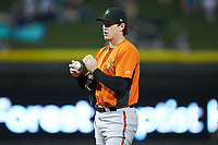 Frederick Keys starting pitcher Michael Baumann (36) during the game against the Winston-Salem Dash at BB&T Ballpark on July 26, 2018 in Winston-Salem, North Carolina. The Keys defeated the Dash 6-1. (Brian Westerholt/Four Seam Images)