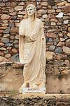 Statue of Emperor Augustus, Aula Sacra, Merida, Extremadura, Spain