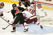 Katie MacSorley (NU - 3) puts Northeastern on the board 1:37 into the second period. - The Boston College Eagles defeated the visiting Northeastern University Huskies 2-1 on Sunday, January 30, 2011, at Conte Forum in Chestnut Hill, Massachusetts.
