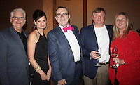 NWA Democrat-Gazette/CARIN SCHOPPMEYER Rolf and Ceri Wilkin (from left), Fred Scarborough and Steve and Michele Wilson visit at the Jackson L. Graves benefit.