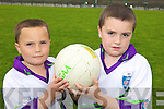 BROTHERS: Brothers Conor and Eoghan Ferris enjoying the GAA Cu?l Camp at the Coolard grounds in Ballydonoghue last Friday.