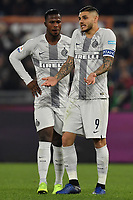 Keita Balde and Mauro Icardi of Internazionale talk during the Serie A 2018/2019 football match between AS Roma and FC Internazionale at stadio Olimpico, Roma, December, 2, 2018 <br />  Foto Andrea Staccioli / Insidefoto