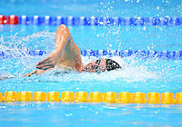 August 04, 2012..Allison Schmitt swim last leg of Women's 4x100m Medley relay at the Aquatics Center on day eight of 2012 Olympic Games in London, United Kingdom. United States Women won the event by setting a new World Record.
