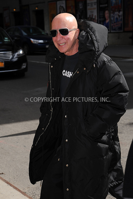 WWW.ACEPIXS.COM <br /> March 24, 2015 New York City<br /> <br /> Paul Shaffer arrives to tape an appearance on the Late Show with David Letterman on March 24, 2015 in New York City.<br /> <br /> Please byline: Kristin Callahan/ACE Pictures  <br /> <br /> ACEPIXS.COM<br /> Ace Pictures, Inc<br /> tel: (212) 243 8787 or (646) 769 0430<br /> e-mail: info@acepixs.com<br /> web: http://www.acepixs.com