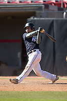 Joseph Mendez (13) of Riverdale Baptist High School in Leesburg, Virginia playing for the New York Yankees scout team at the South Atlantic Border Battle at Doak Field on November 2, 2014.  (Brian Westerholt/Four Seam Images)