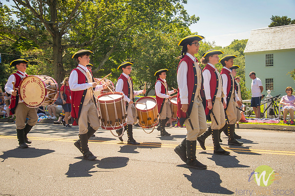 4th of July Parade, Madison, CT. Deep River Junior Ancients. Fife and Drum