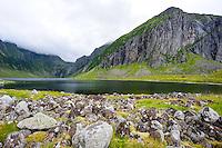 Norway, Lofoten. Eggum is located on the north side of Vestvågøya, close by the Eggum naturreserve.