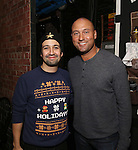 Derek Jeter visits the cast of 'Hamilton'