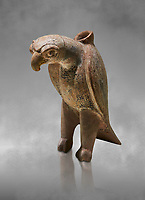 Bronze Age Anatolian terra Cotta eagle shaped ritual vessel - 19th to 17th century BC - Kültepe Kanesh - Museum of Anatolian Civilisations, Ankara, Turkey.