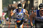 FIS Rollerski World Cup 2019 Fiemme at in Ziano, on September 14, 2019.  <br />  Vincent Fichte (GER) Team Stamina Rollerski