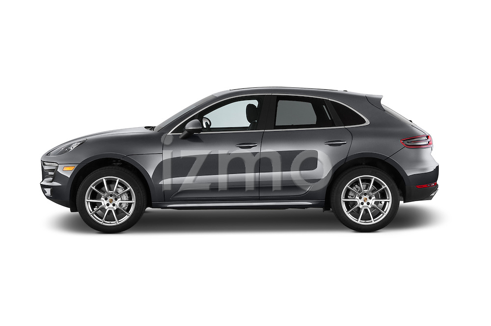 Car Driver side profile view of a 2015 Porsche Macan S 5 Door SUV Side View