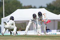 Lewis McManus (wk) is bowled by Thilan Walallawita during Middlesex CCC vs Hampshire CCC, Bob Willis Trophy Cricket at Radlett Cricket Club on 11th August 2020