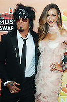 LOS ANGELES, CA, USA - MAY 01: Nikki Sixx, Courtney Bingham at the iHeartRadio Music Awards 2014 held at The Shrine Auditorium on May 1, 2014 in Los Angeles, California, United States. (Photo by Celebrity Monitor)