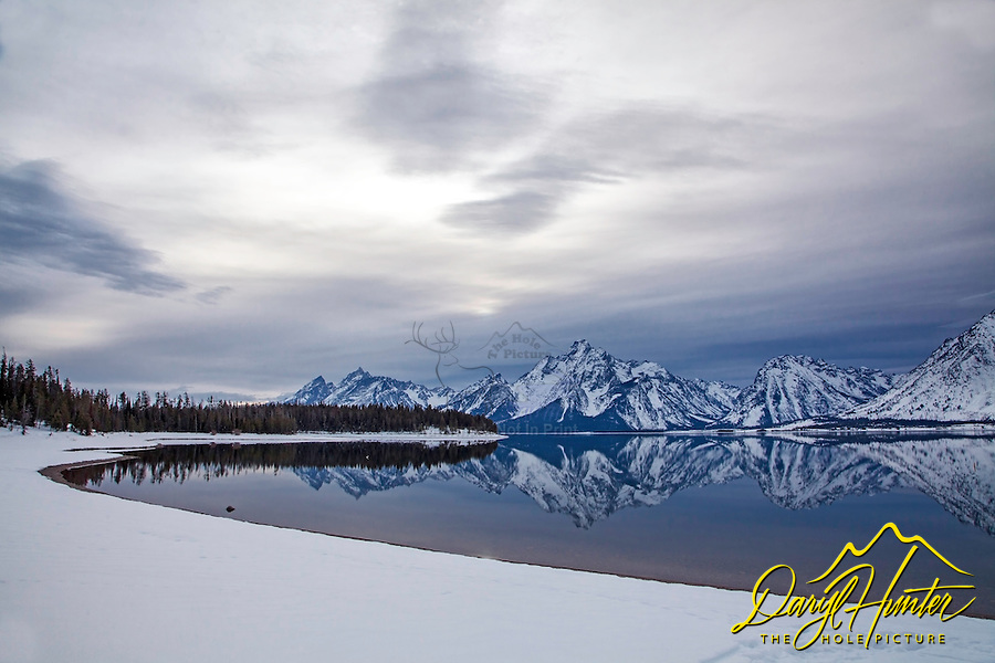 Winter Reflection, Coulter Bay. I love the time of year right before the lakes freeze up when I'm lucky enough to be there after a storm.