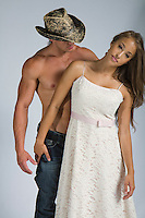 Western cowboy and Native American woman interracial themed Romance Novel cover stock photograph by Jenn LeBlanc for Illustrated Romance