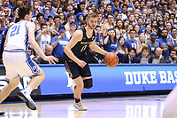 DUKE, NC - FEBRUARY 15: Rex Chapman #0 of the University of Notre Dame dribbles the ball during a game between Notre Dame and Duke at Cameron Indoor Stadium on February 15, 2020 in Duke, North Carolina.