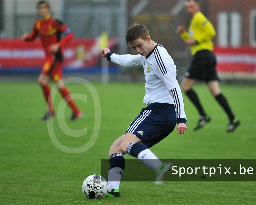 Scotland U19 - Belgium U19 : Stuart Findlay.foto DAVID CATRY / Nikonpro.be