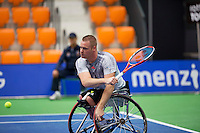 Rotterdam,Netherlands, December 15, 2015,  Topsport Centrum, Lotto NK Tennis, Maikel Scheffers (NED)<br /> Photo: Tennisimages/Henk Koster
