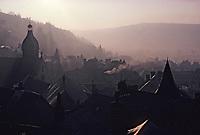 Europe/France/Auvergne/15/Cantal/Murat: Les toits et l'église du village