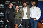 Left to right Nolan Walsh, model Nina Agdal, Tyson Ritter, and Connor Wilson attend the Thursday Boot Company Presentation at Vandal on September 13, 2017 in New York City.
