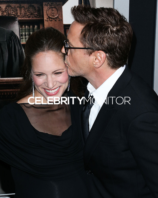 BEVERLY HILLS, CA, USA - OCTOBER 01: Susan Downey, Robert Downey Jr. arrives at the Los Angeles Premiere Of Warner Bros. Pictures And Village Roadshow Pictures' 'The Judge' held at the Samuel Goldwyn Theatre at The Academy of Motion Picture Arts and Sciences on October 1, 2014 in Beverly Hills, California, United States. (Photo by Xavier Collin/Celebrity Monitor)