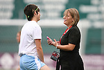 13 June 2009: Chicago head coach Emma Hayes (ENG) (right) and Megan Rapinoe (left). The Washington Freedom and the Chicago Red Stars played to a 0-0 tie at the RFK Stadium in Washington, DC in a regular season Women's Professional Soccer game.