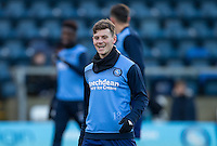 Dominic Gape of Wycombe Wanderers warms up before the Sky Bet League 2 match between Wycombe Wanderers and Newport County at Adams Park, High Wycombe, England on 2 January 2017. Photo by Andy Rowland.