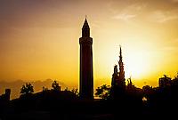 Yivli Minare (fluted minaret), Kaleici, Antalya, Turkey