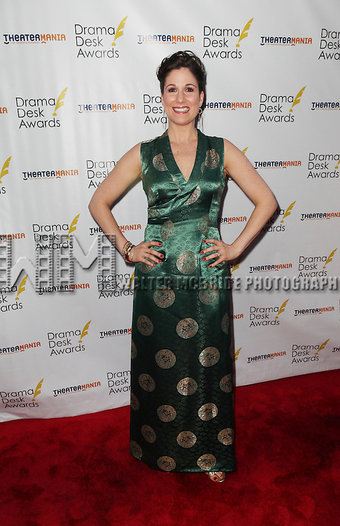 Stephanie J. Block pictured at the 57th Annual Drama Desk Awards held at the The Town Hall in New York City, NY on June 3, 2012. © Walter McBride